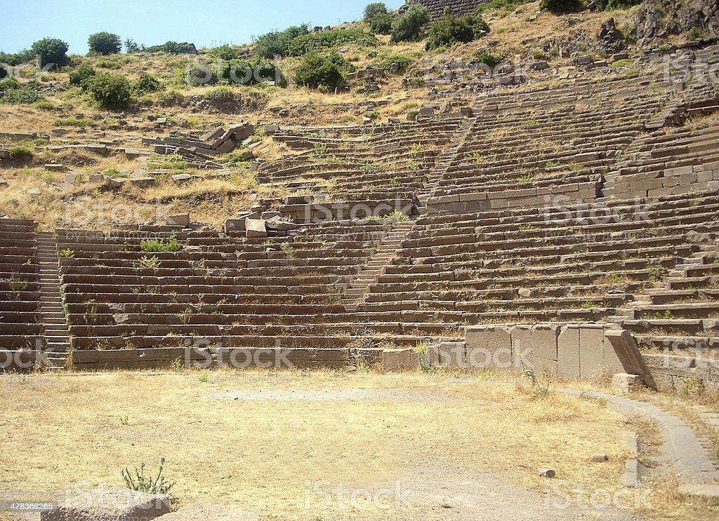 Roman amphitheatre, Assos stock photo