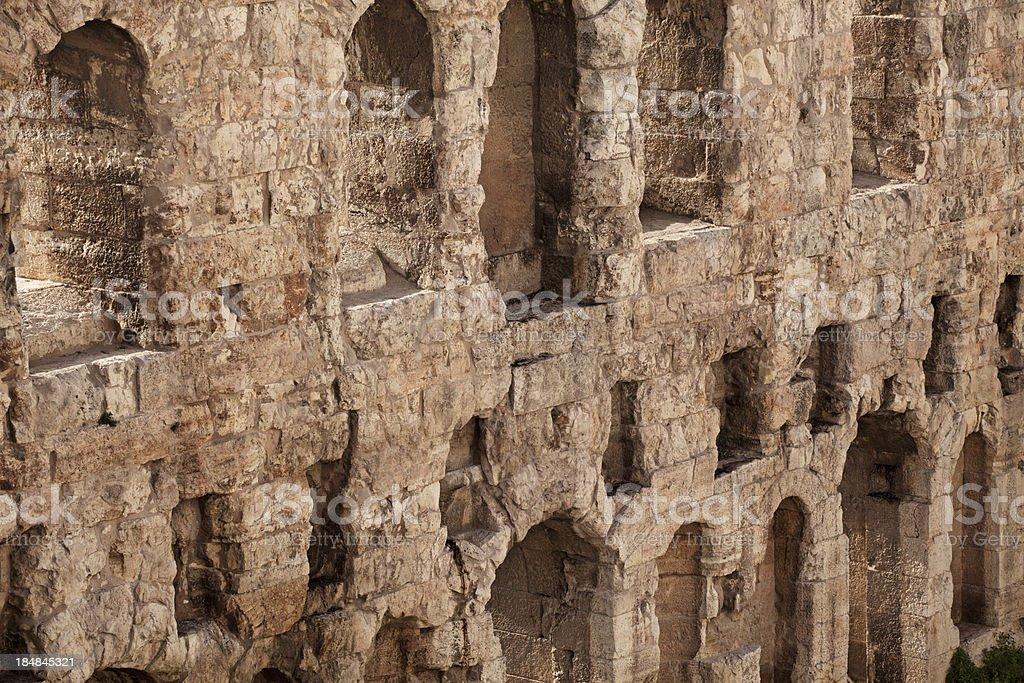 Roman Amphitheatre Athens royalty-free stock photo