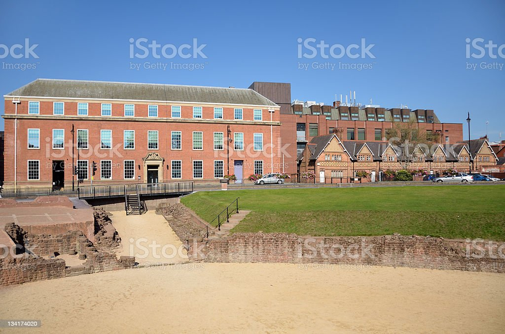 Roman Amphitheatre in Chester royalty-free stock photo