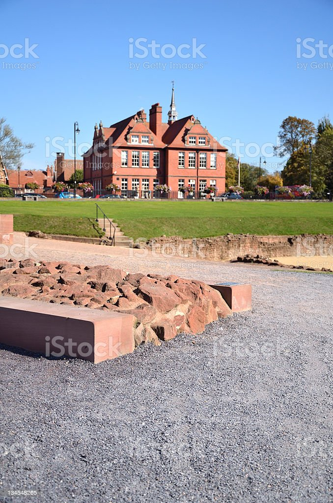 Roman Amphitheatre in Old City of Chester royalty-free stock photo