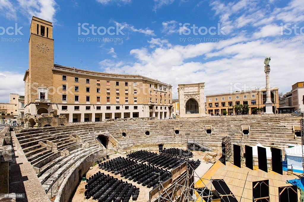 Roman amphitheatre of Lecce stock photo