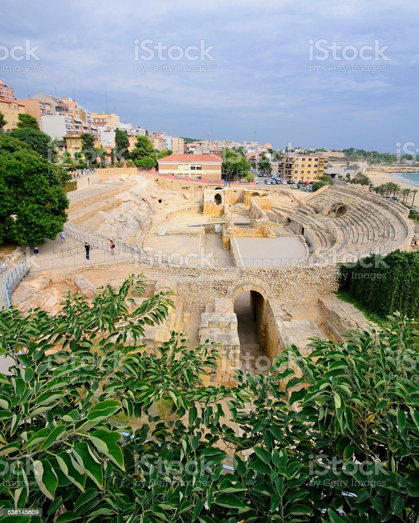 Anfiteatro romano de Tarragona foto de stock libre de derechos