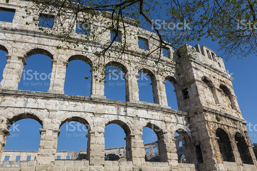 Roman amphitheatre royalty-free stock photo