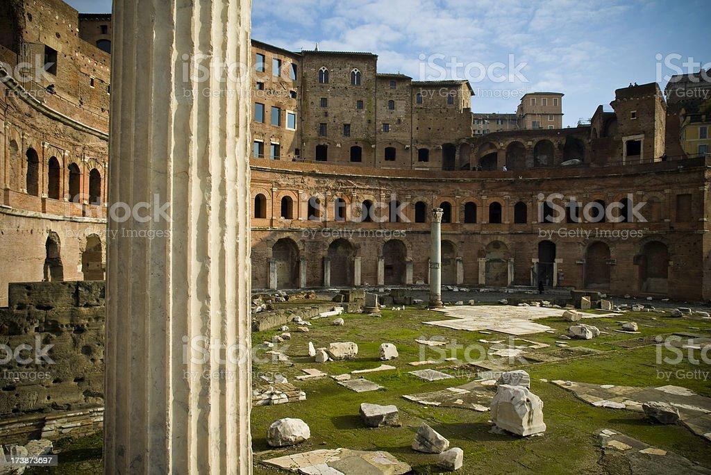 Roman amphitheatre ruins royalty-free stock photo