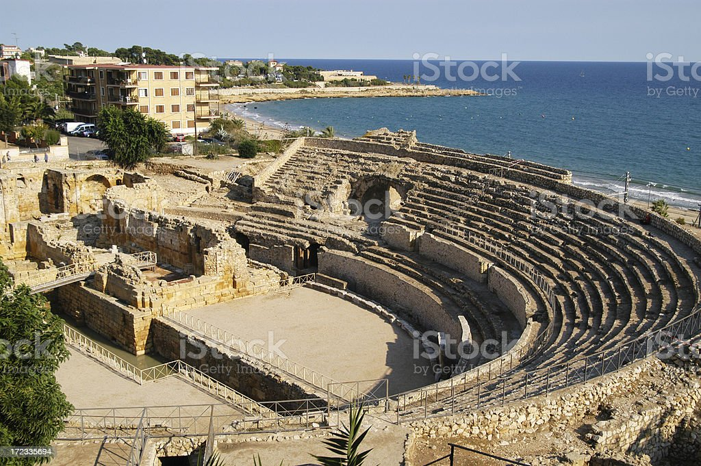 Roman Amphitheatre Tarragona royalty-free stock photo