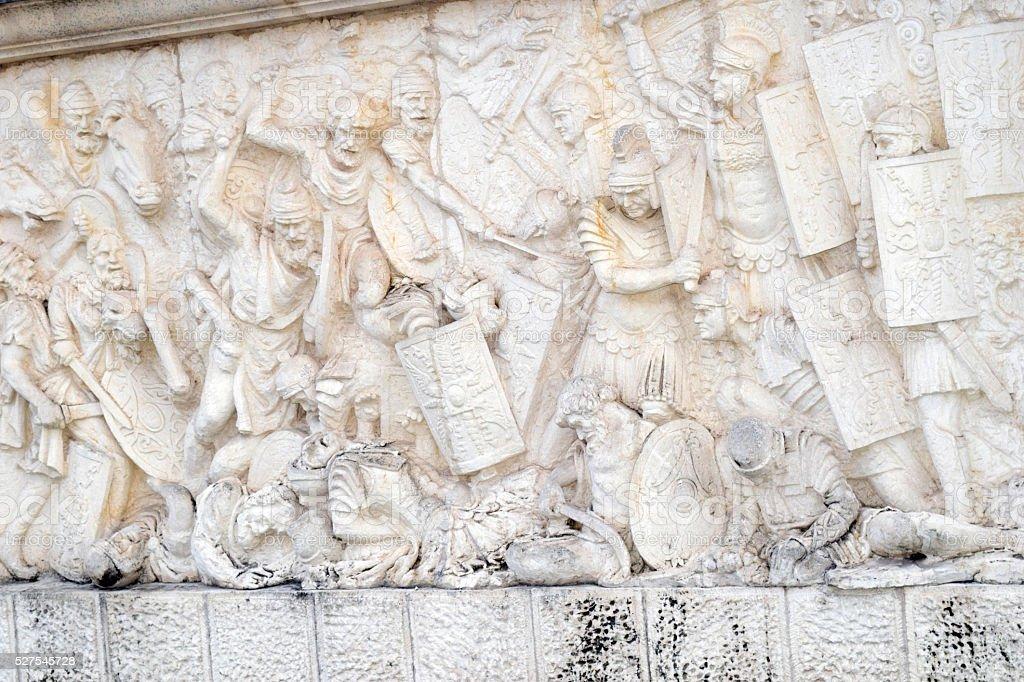 Roman And Dacian War Fight Scene stock photo