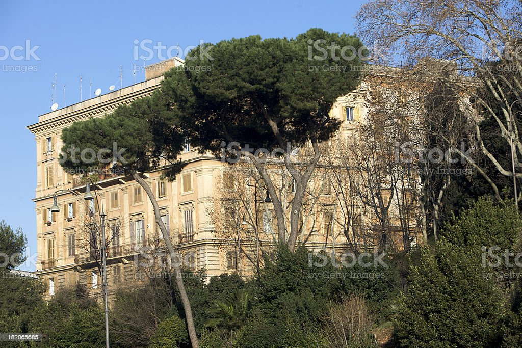 Roman apartment building royalty-free stock photo