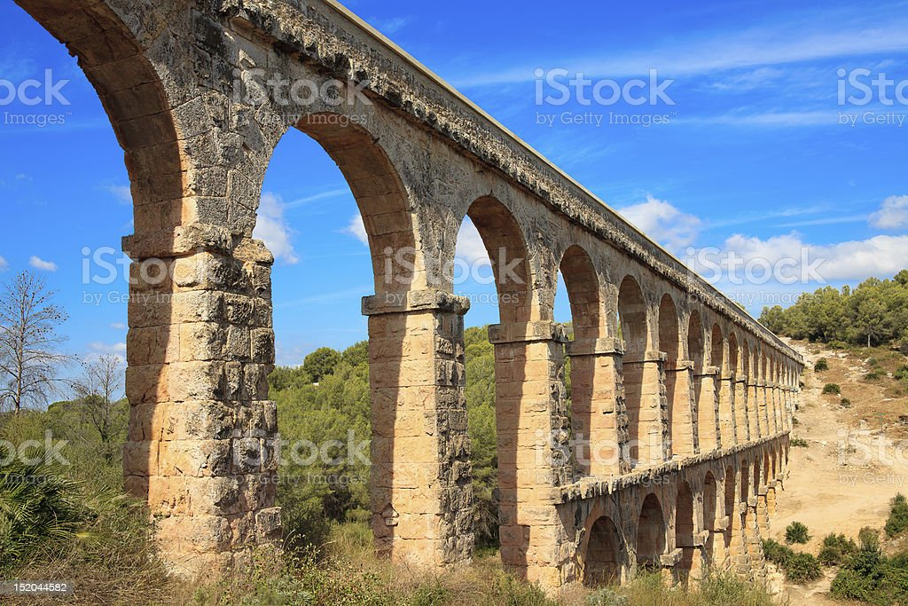 Roman aqueduct royalty-free stock photo