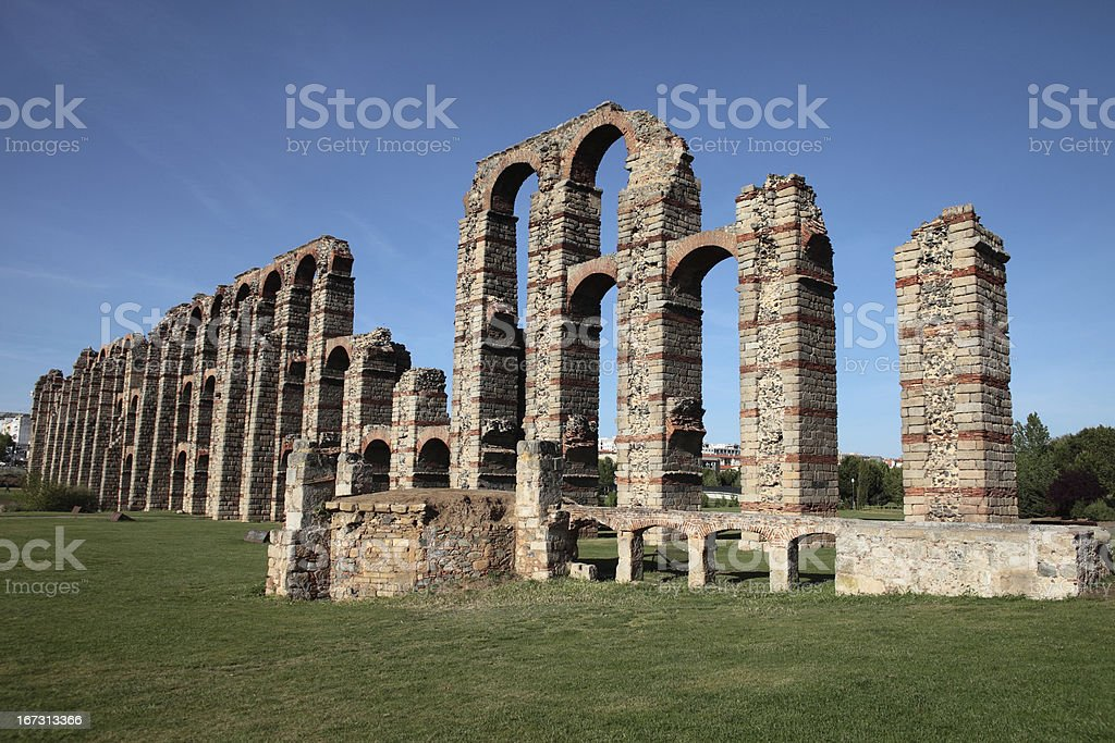 roman aqueduct royalty-free stock photo
