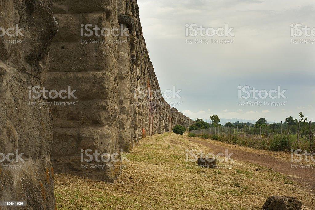 Roman Aqueduct (Parco degli Acquedotti) Roma - Italy royalty-free stock photo