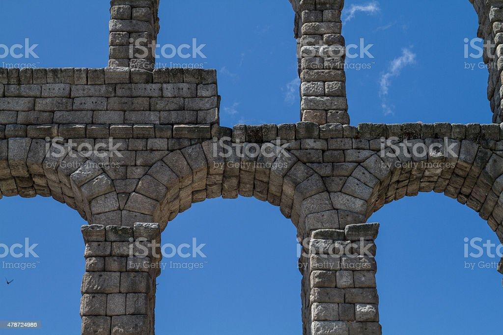 Roman Aqueducts w Segovia zbiór zdjęć royalty-free