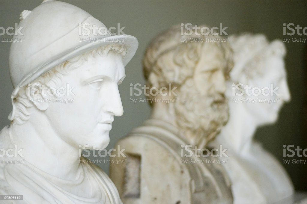 Roman archeological antiquites stock photo