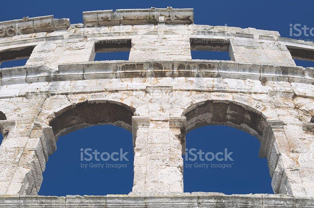 Roman Architecture Closeup stock photo