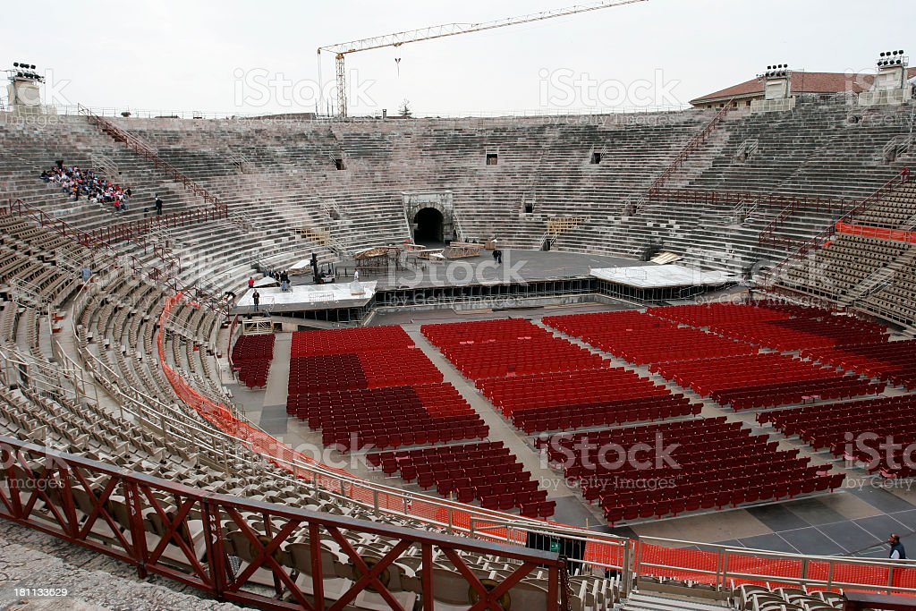 Roman Arena stock photo
