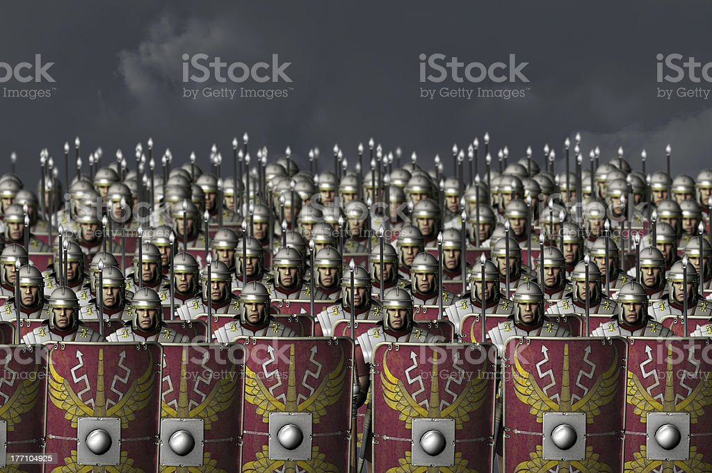 Roman army stock photo