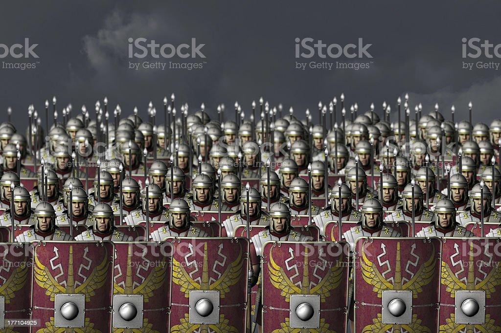 Roman army stock photo