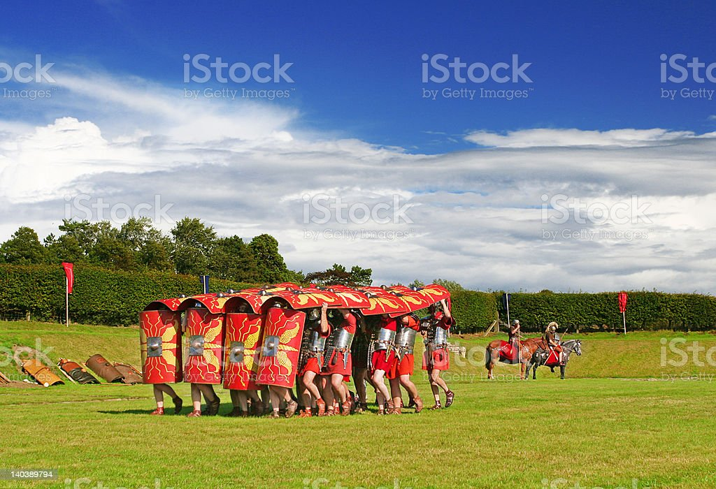 Roman Army Training Ground stock photo