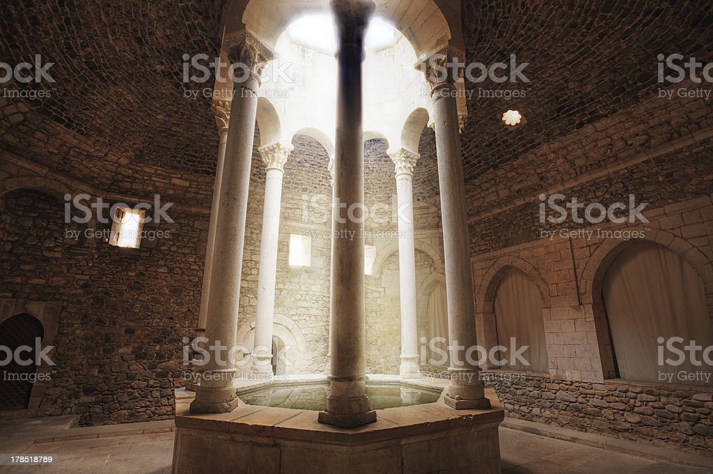 roman bath in Girona. Spain. royalty-free stock photo