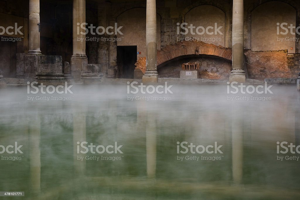 Roman Bath stock photo