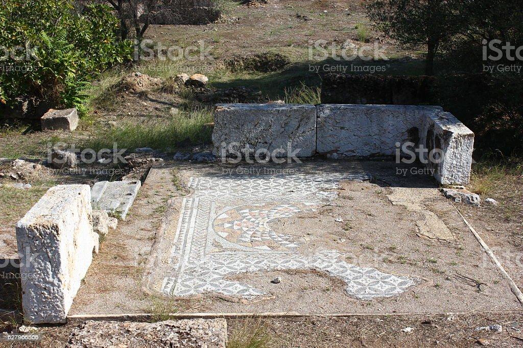 Roman Bath stock photo