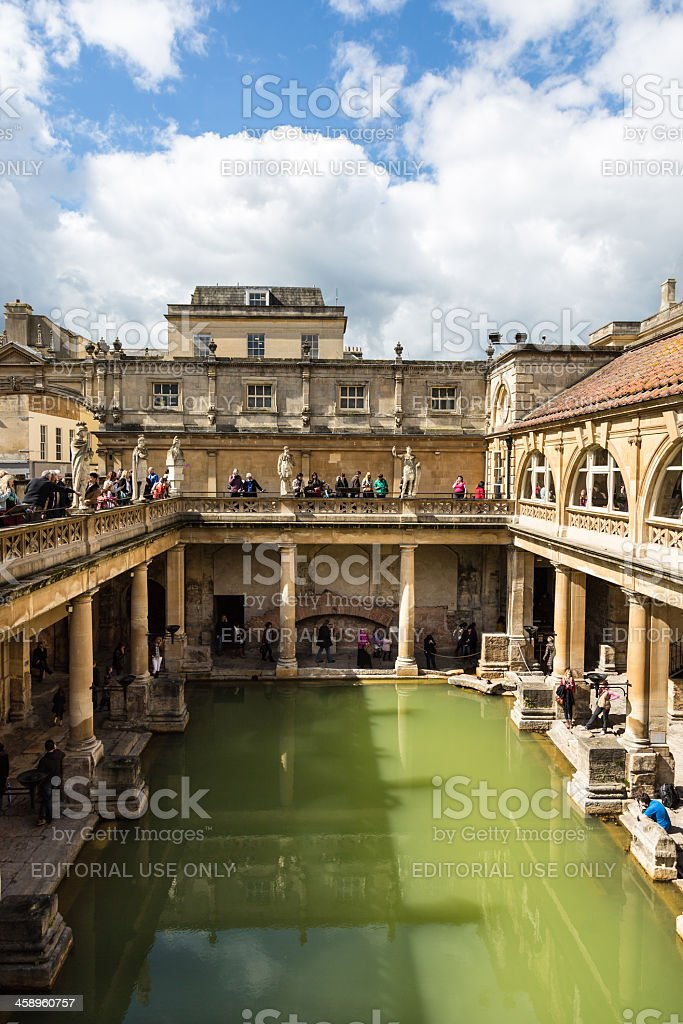 Roman Baths House, Bath, United Kingdom royalty-free stock photo