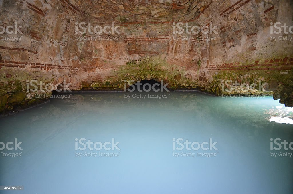 Roman baths in Spain stock photo