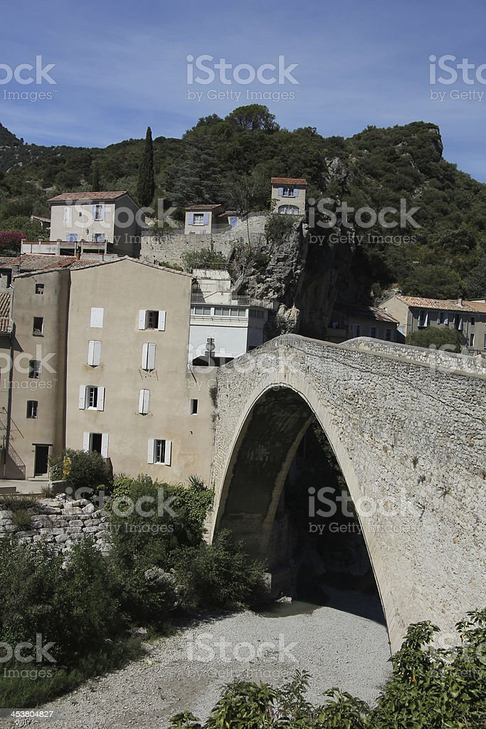Roman Bridge in Nyons stock photo