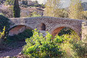 Roman bridge in Pollenca, Mallorca, Spain