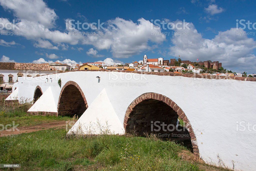 Roman Bridge in Silves stock photo