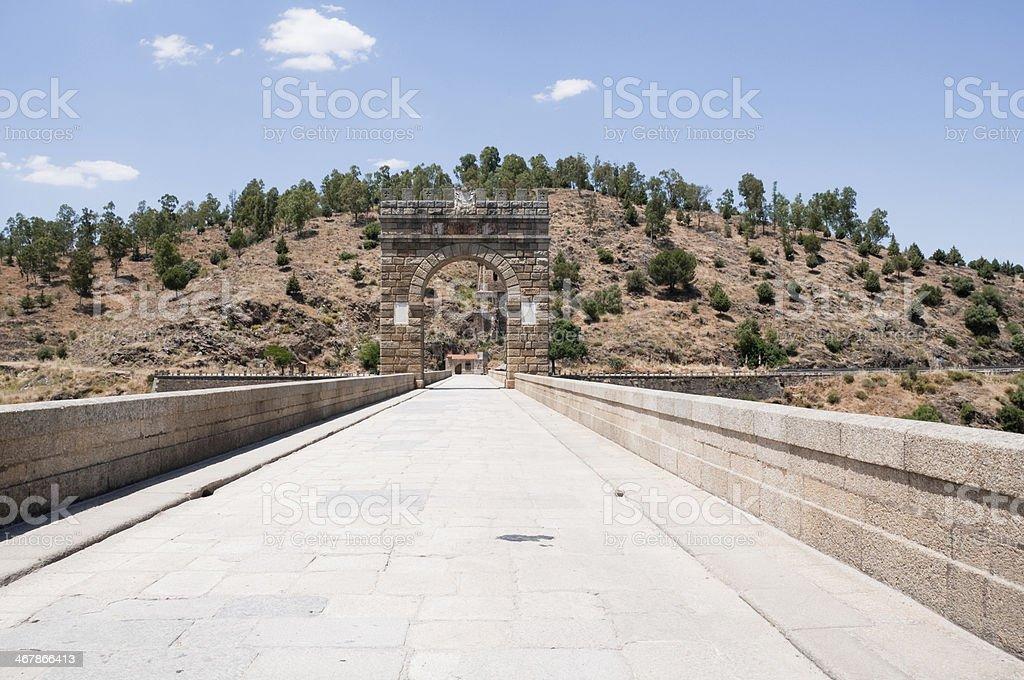Roman bridge of Alcantara, Caceres Province, Extremadura (Spain) stock photo