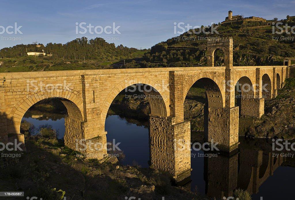 Roman Bridge of Alcantara stock photo