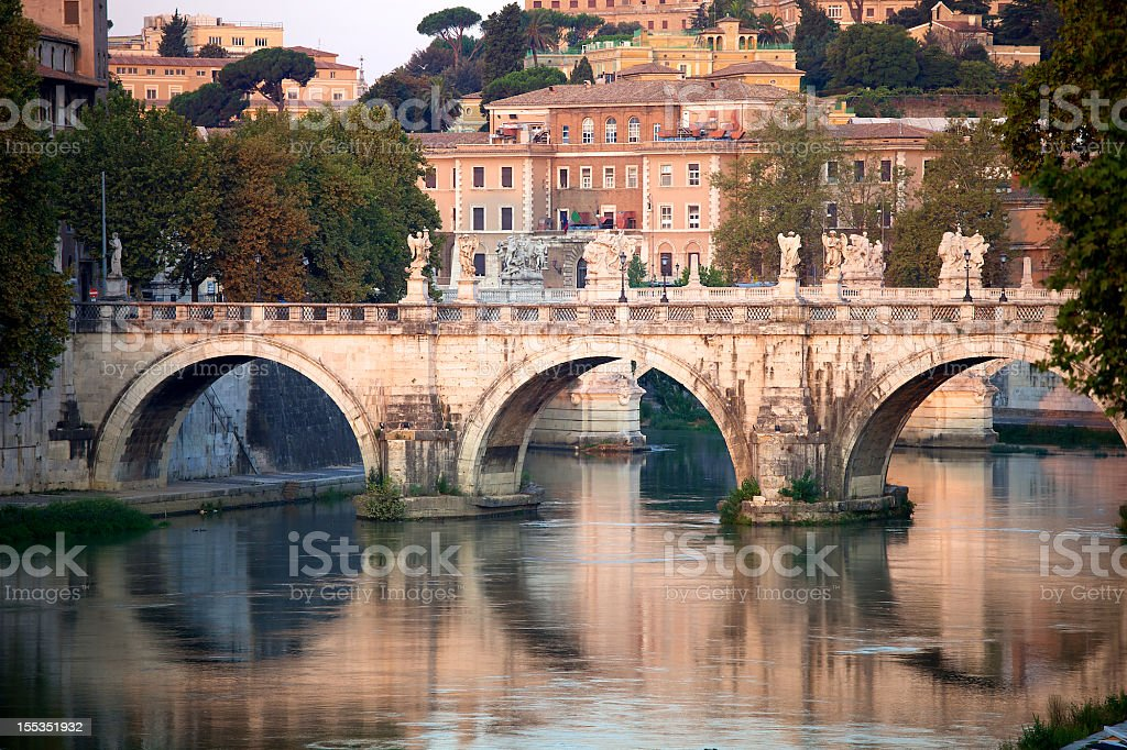 Roman Bridge royalty-free stock photo