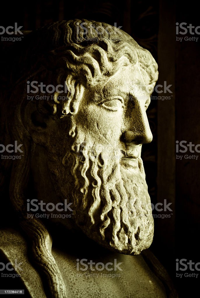 roman bust stock photo