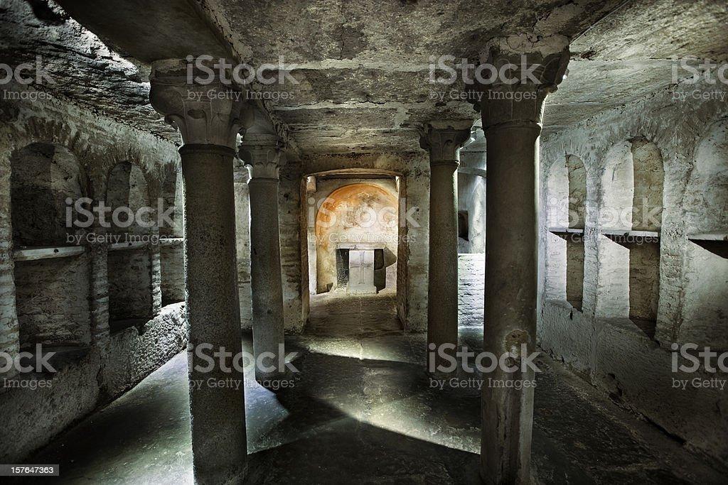 Roman Catacomb Tomb stock photo
