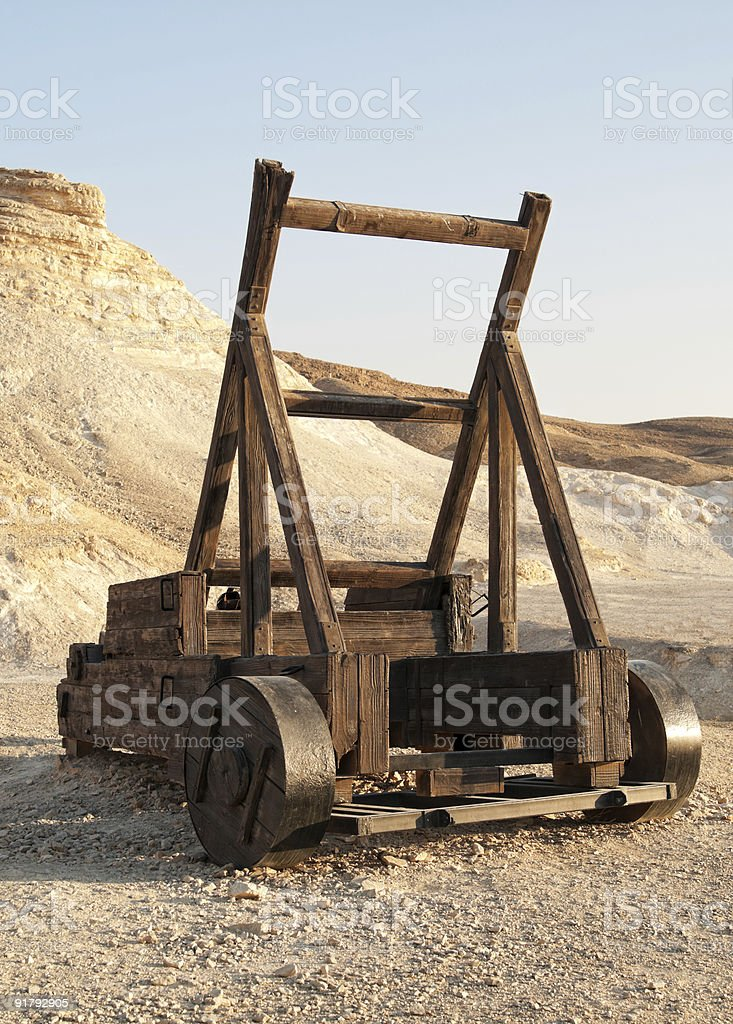 Roman Catapult royalty-free stock photo