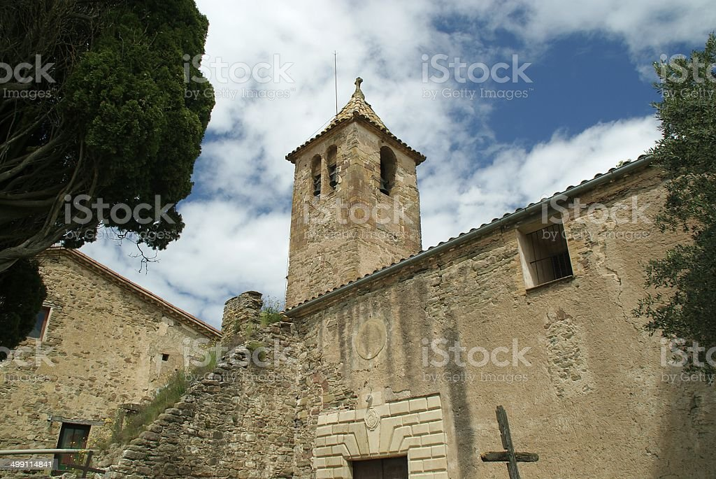 iglesia cat?lica romanica II stock photo