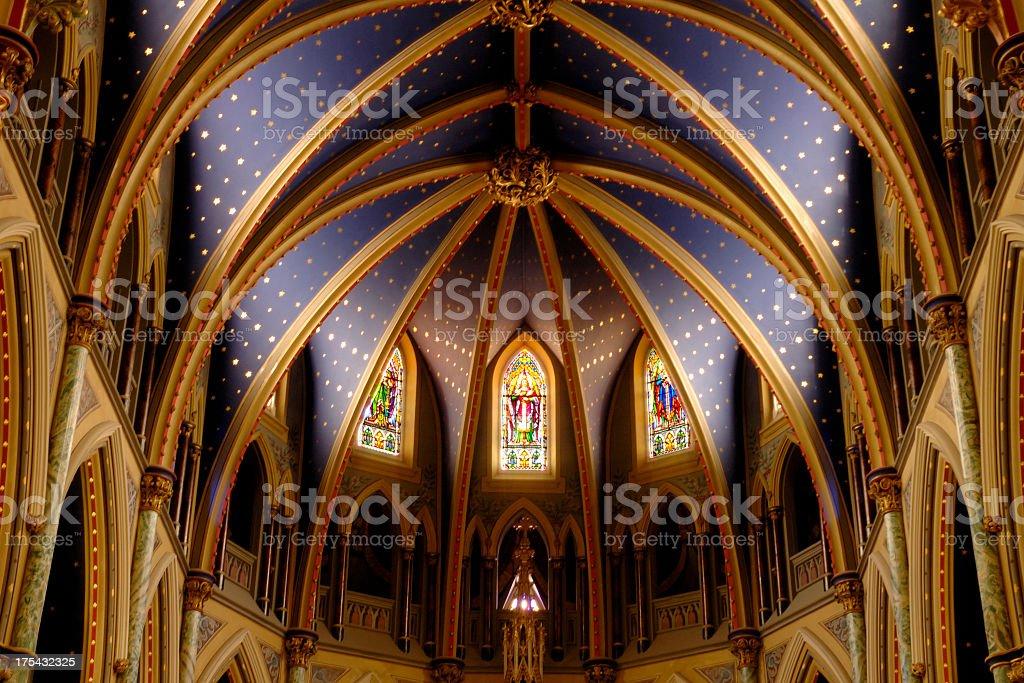 Roman Catholic Church interior stock photo