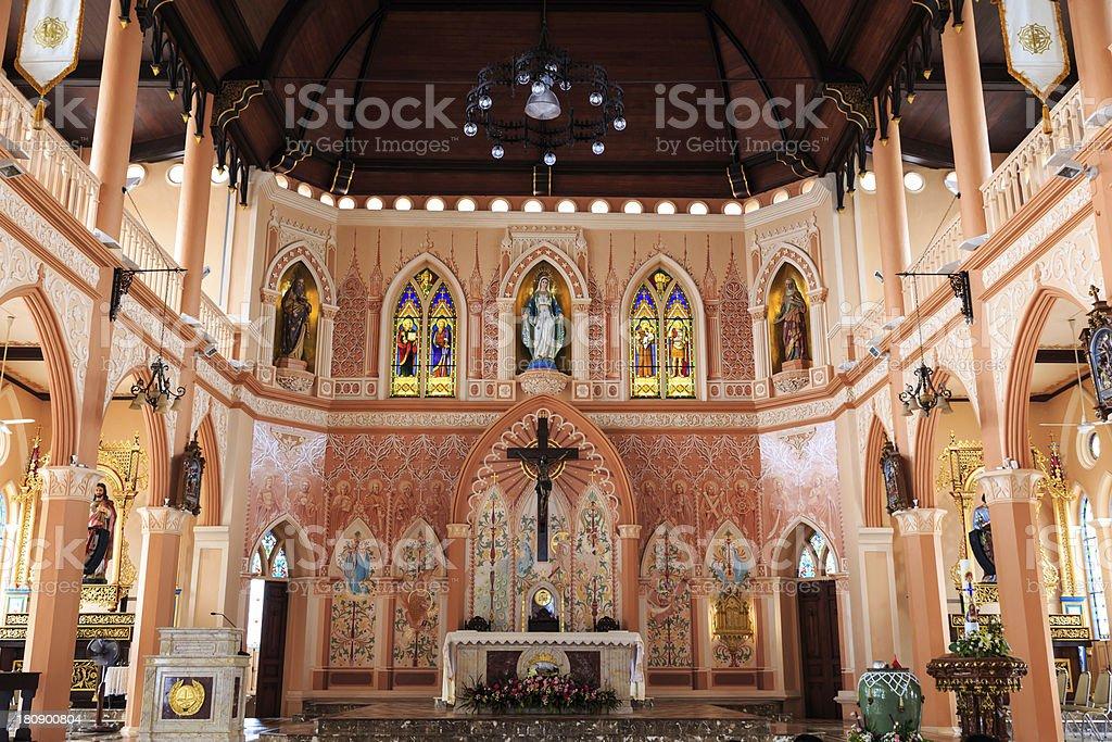 Roman Catholic Church Interior royalty-free stock photo
