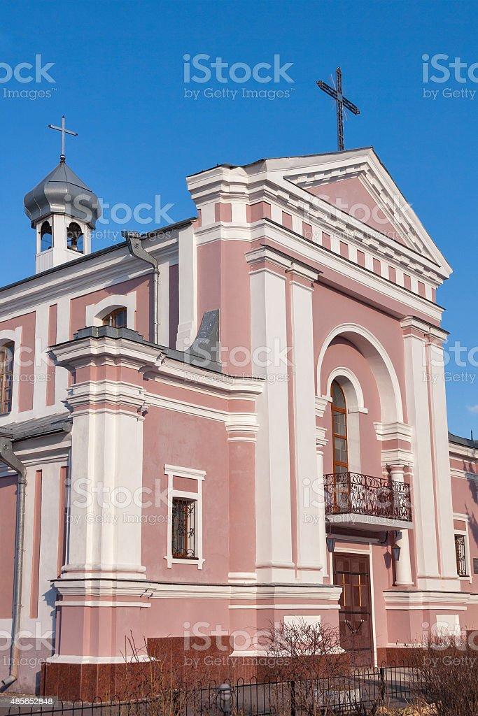 Roman Catholic Church of St. Barbara in Berdychiv, Ukraine stock photo