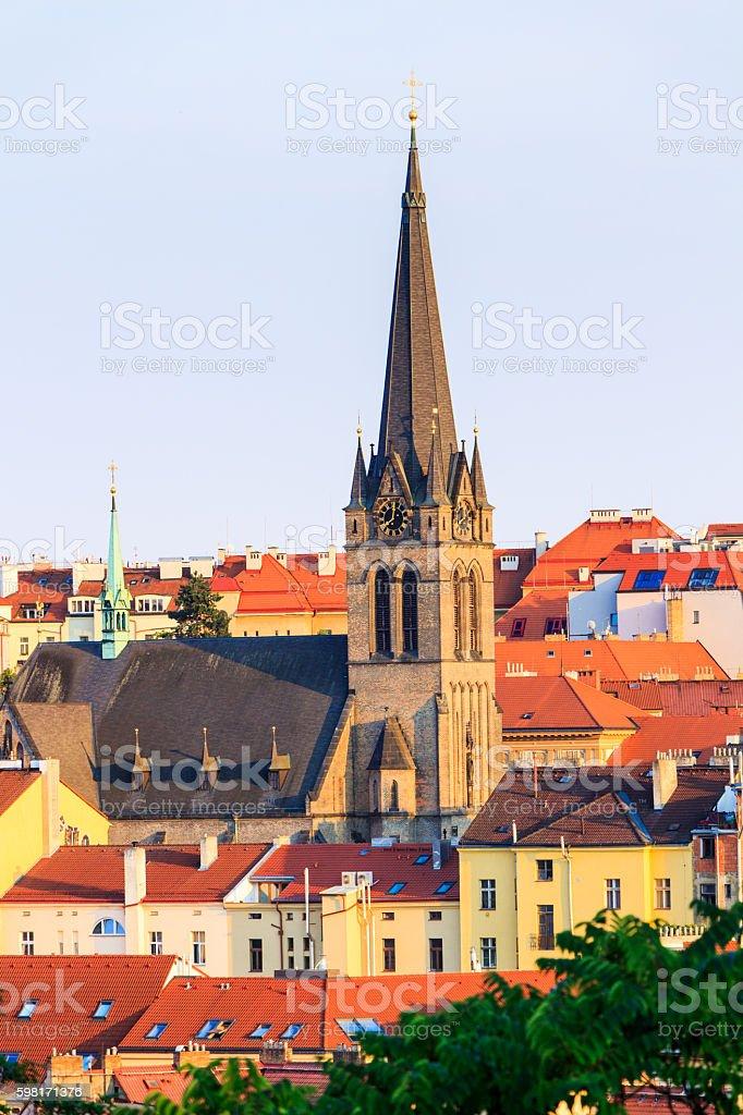 Roman Catholic Church St. Prokop, Zizkov, Prague, Czech Republic stock photo
