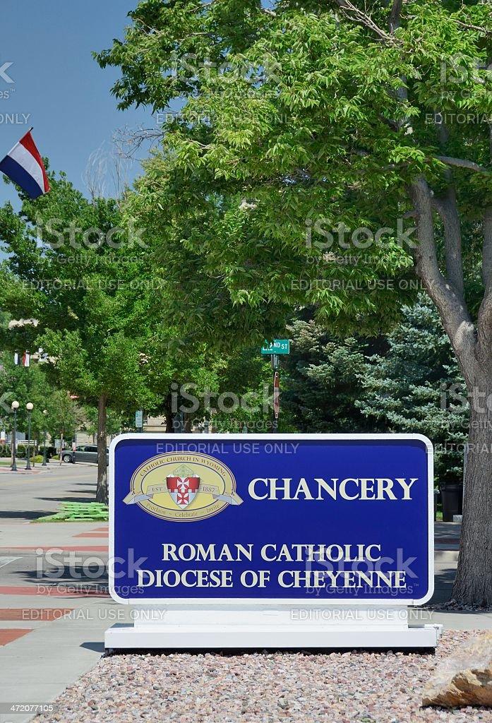 Roman Catholic Diocese of Cheyenne stock photo