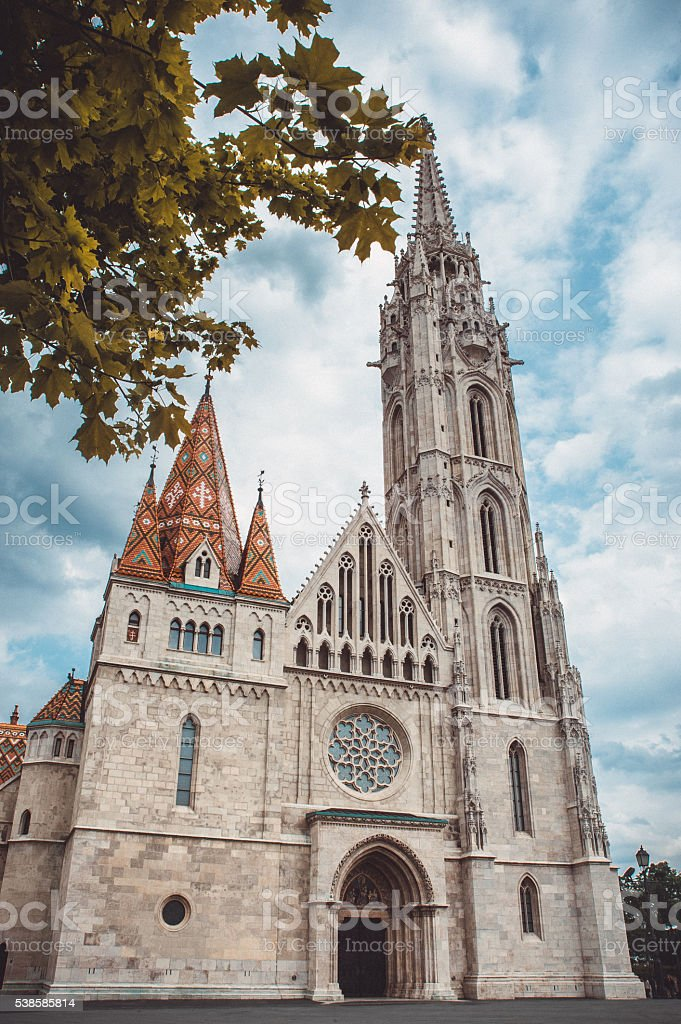 Roman Catholic Matthias Church in the heart of Budapest, Hungary stock photo