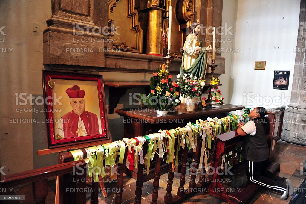 Roman Catholicism in Mexico in Mexico city, Mexico stock photo
