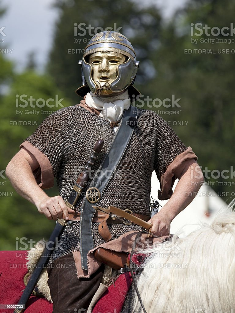 Roman Cavalry Soldier royalty-free stock photo