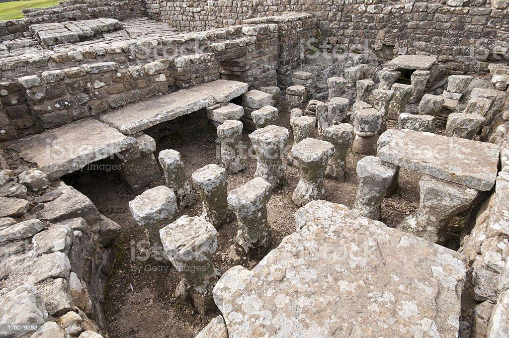 Roman Central Heating stock photo