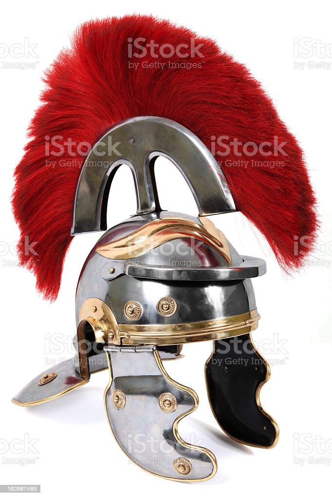 Roman Centurion Helmet stock photo