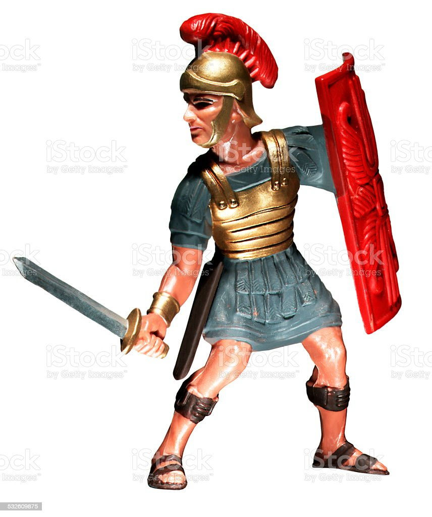 Roman Centurion With Sword and Shield stock photo