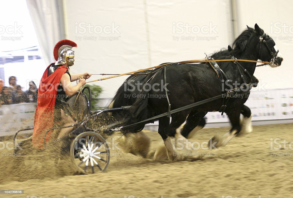 Roman Chariot Racing royalty-free stock photo