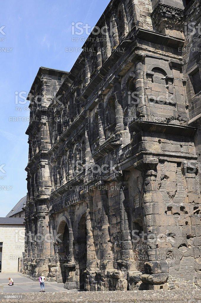 Roman city gate Porta Nigra in Trier (Germany) stock photo