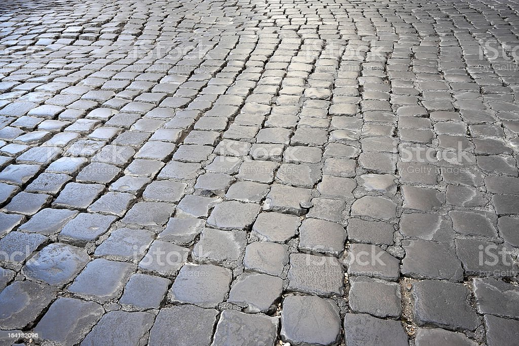 Roman gepflasterten Street Lizenzfreies stock-foto